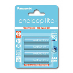 ENELOOP LITE BK-4LCCE/4BE 550mAh Batterie Ricaricabili AAA 3000 cicl