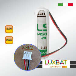 SAFT LS14500 + JST PHR-03 3,6V 2,6Ah Batteria al litio con connettore JST PHR-03