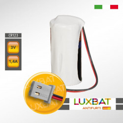 VISONIC CR123A 3V 1,4Ah PANASONIC Batteria Litio per rivelatori di fumo MCT-426