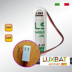 PARADOX LS14500 3,6V 2,6Ah SAFT Batteria al Litio Compatibile con sensori PARADOX
