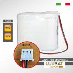 TECNOALARM 2LSH20 7,2V 13Ah Batteria al Litio Compatibile TECNOALARM C126BATT72V13WL