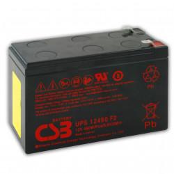 CSB UPS 12460 F2 12V 460W 9Ah FASTON 6,3 mm Batteria al Piombo per UPS APC