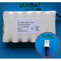 BENTEL GP150AAM6BMX 7,2V 1,5Ah Batteria al Ni-Mh per centrali BENTEL BW64 BW30