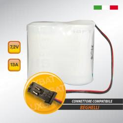 Pacco batteria al litio SAFT 2LSH20 7.2V 13Ah compatibile BEGHELLI
