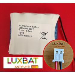 ER14505-2S2P 7,2V 5Ah Batteria al Litio HCB con connettore MOLEX