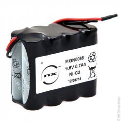 Batteria Ricaricabile Ni-Cd ARTS 9,6V 700mAh per porte automatiche DORMA