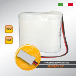 Pacco batteria al litio SAFT 2LSH20 7.2V 13Ah compatibile SECURITY CA'