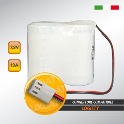Pacco batteria al litio SAFT 2LSH20 7.2V 13Ah compatibile LOGISTY