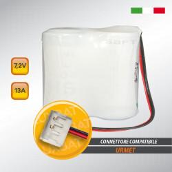 Pacco batteria al litio SAFT 2LSH20 7.2V 13Ah compatibile URMET