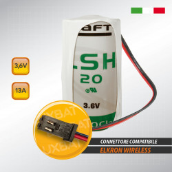 Batteria al Litio SAFT LSH20 3,6V 13Ah compatibile ELKRON
