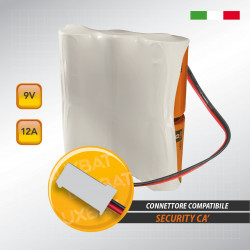 Pacco batteria alcalina MN-POWERPACK 9V 12Ah compatibile SECURITY CA'