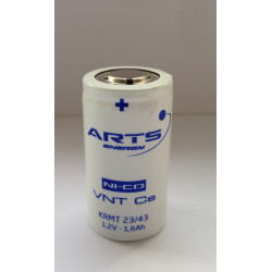 Batteria ricaricabile SAFT/ARTS VNT Cs 1600 NI-CD 1,2V 1600mAh Alta Temperatura