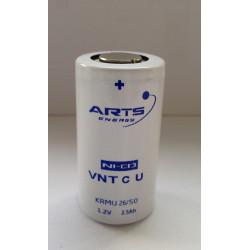 Batteria ricaricabile SAFT/ARTS VNT C Ni-Cd 1,2V 2500mAh Alta Temperatura