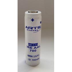 Batteria ricaricabile SAFT/ARTS VRE AAL 700 NI-CD 1,2V 700mAh.